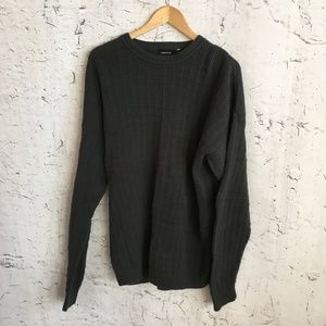 CLAIBORNE  GREEN CREW NECK SWEATER XL